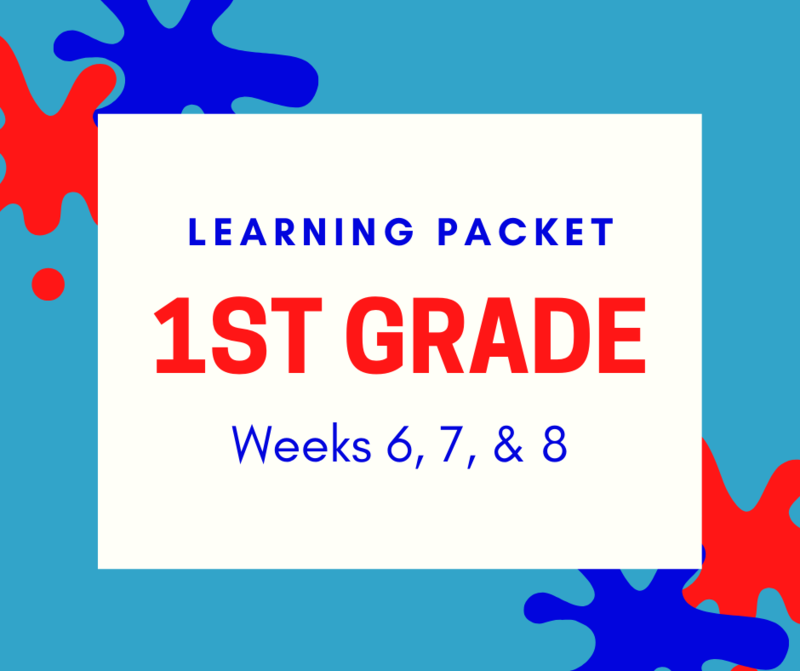 First Grade Learning Packet Featured Photo