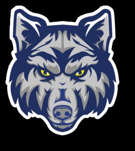 Alternate sport short logo wolf head drop shadow.png