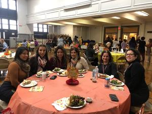 2nd floor teachers enjoying happily their time together at the luncheon