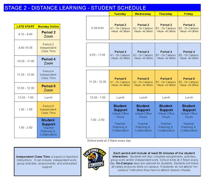 Stage 2 Student Schedule