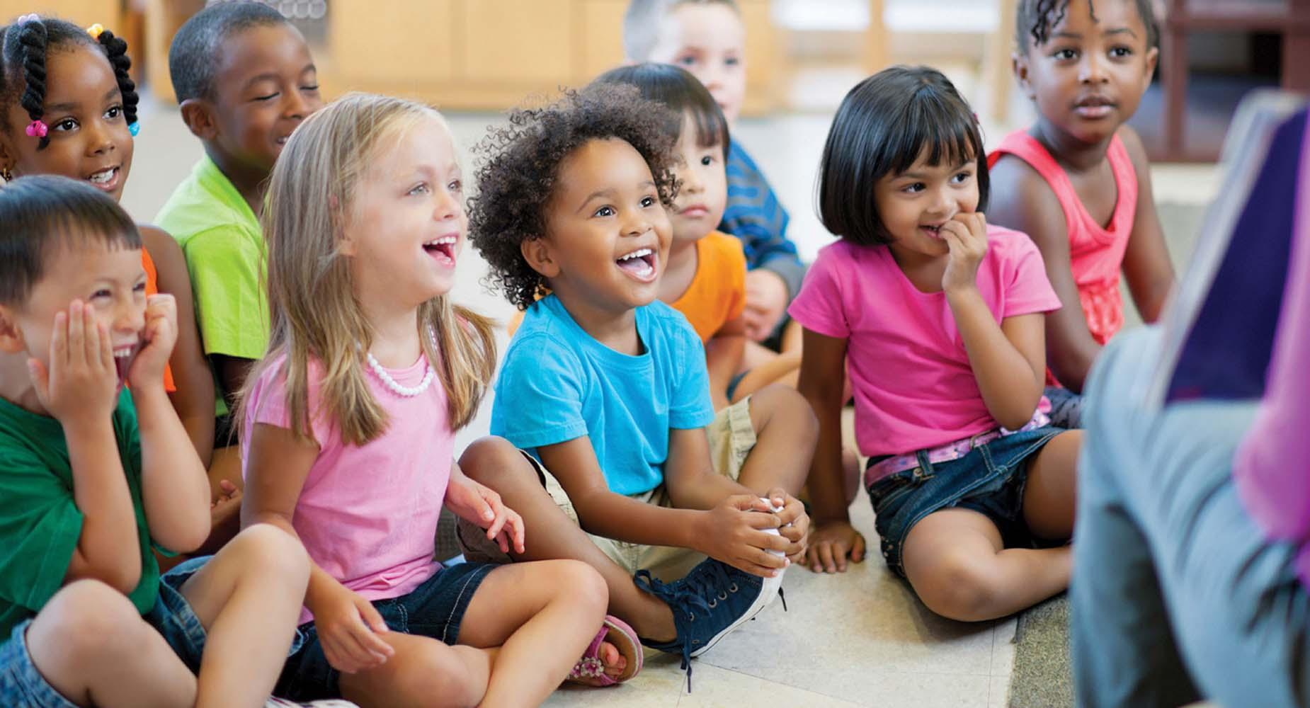 Royalty free stock photo of preschool children