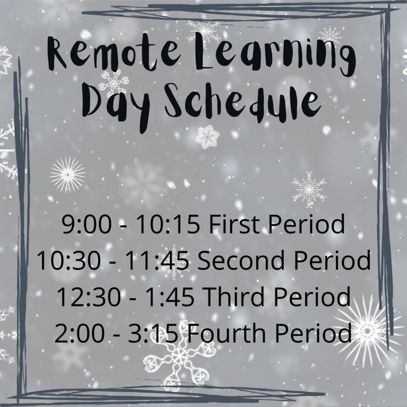 remote learning day schedule