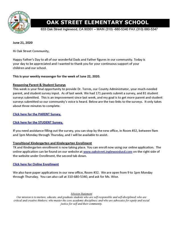 6-21-2020 - Weekly Messenger