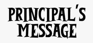 text saying principal message