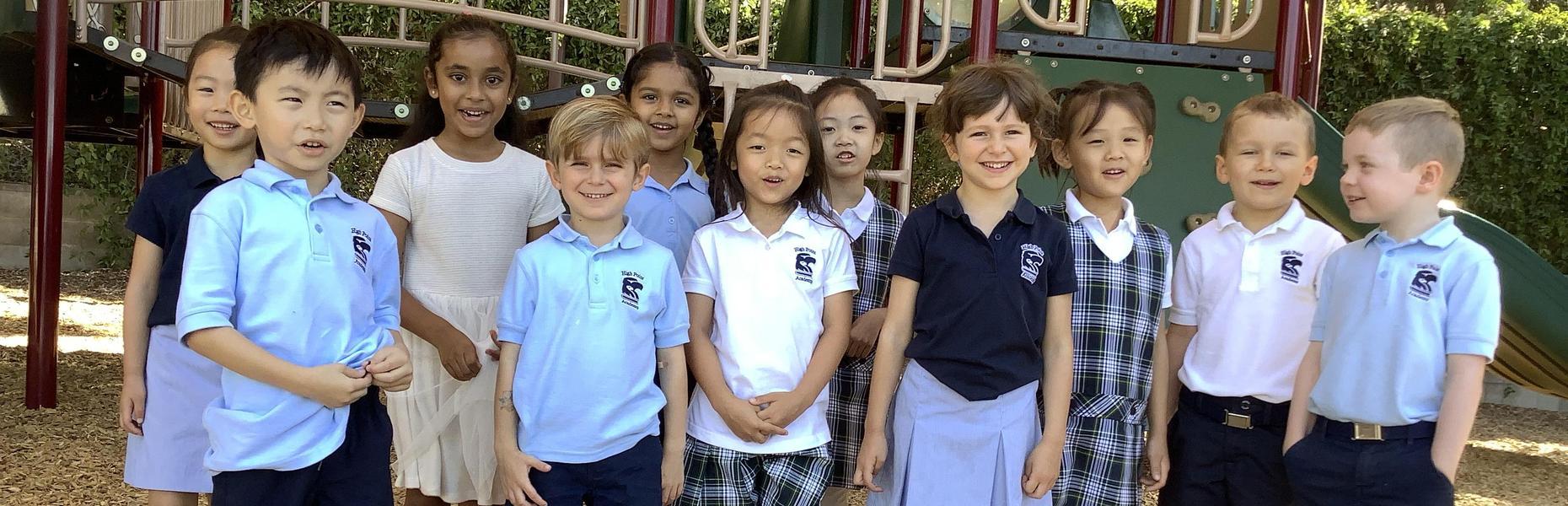 High Point Academy Kindergarten class.