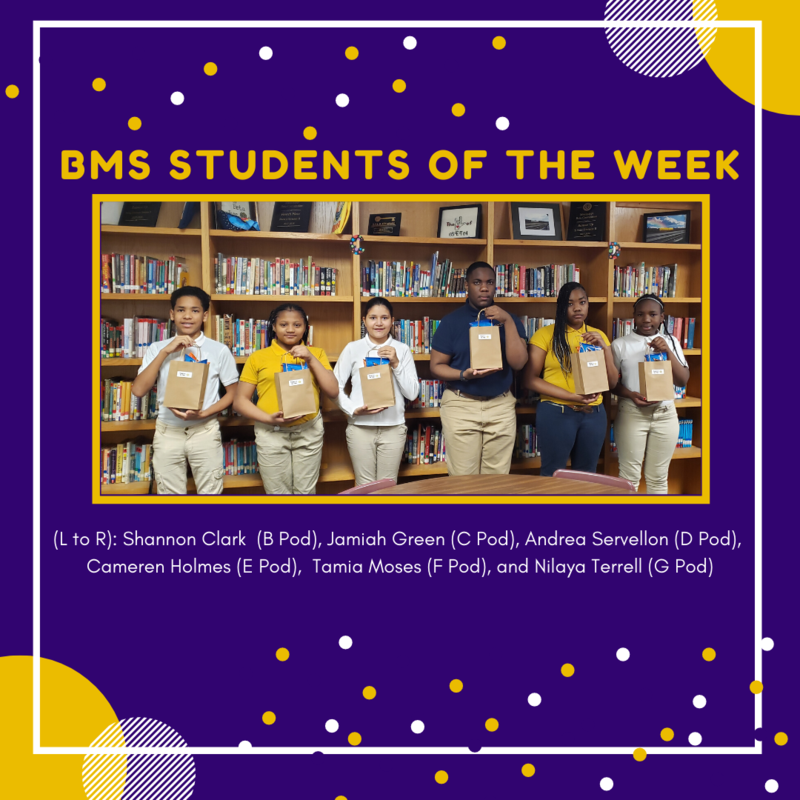BMS STUDENTS OF THE WEEK Featured Photo