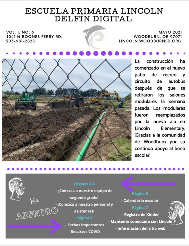 El Delfín Digital - Boletín Mensual de la Primaria Lincoln - mayo Featured Photo