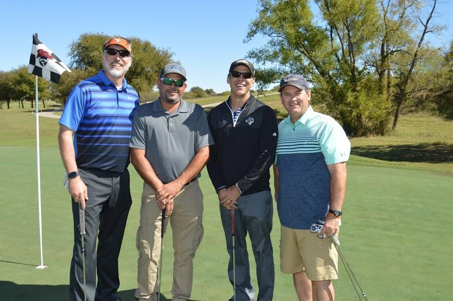 Board member, Pat Freund, with his team from Comfort Air