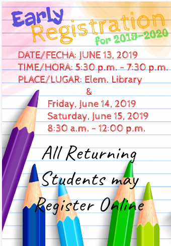 Early Registration 2019-2020 Featured Photo