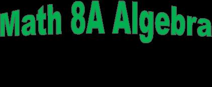 Janssen 8A Algebra