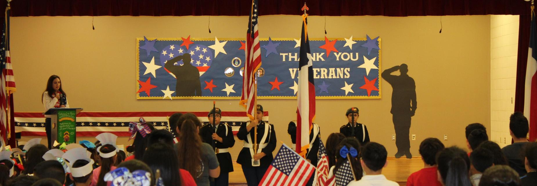MHS Color Guard at Veteran's Day program