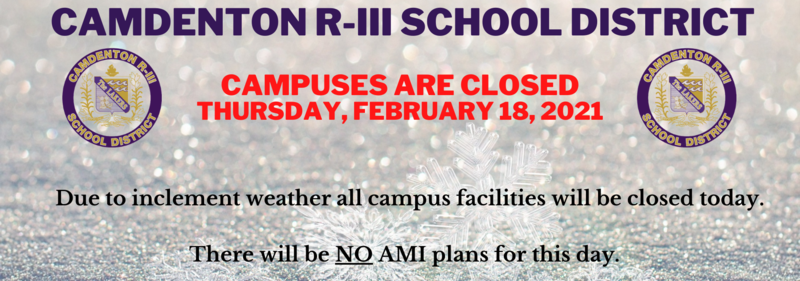 Campus Closed - Thursday, February 18, 2021 Featured Photo
