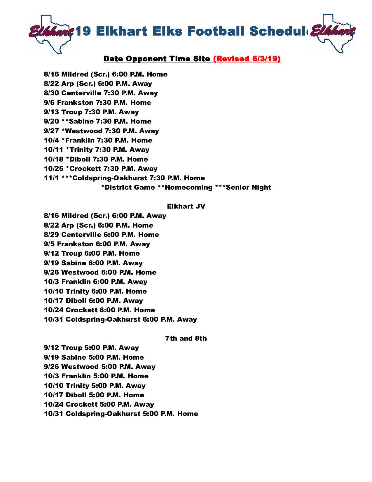 Troup County Schools Calendar.Elkhart Independent School District