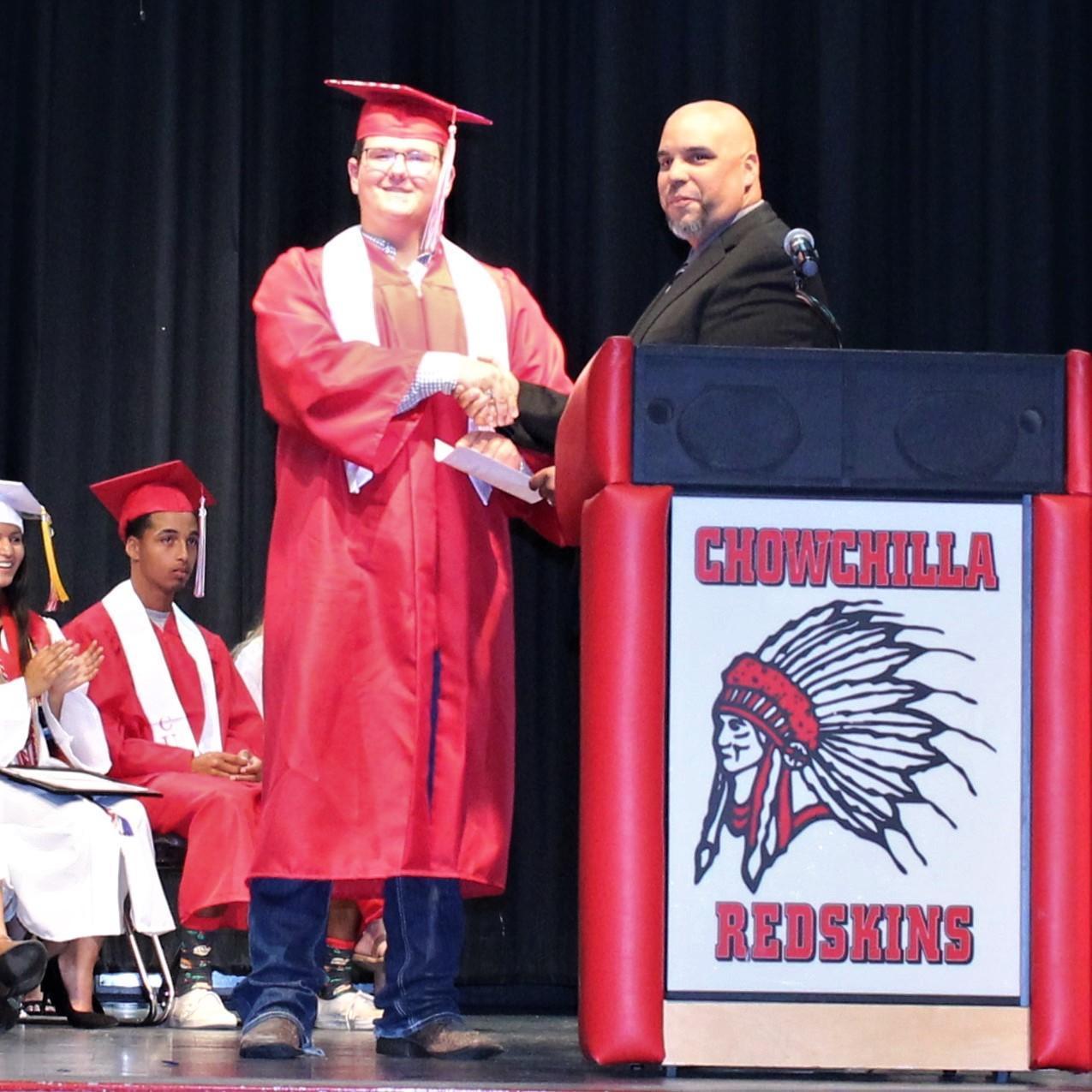 Kyle Gomes, CUHS Assistant Principal Chris Rodriguez
