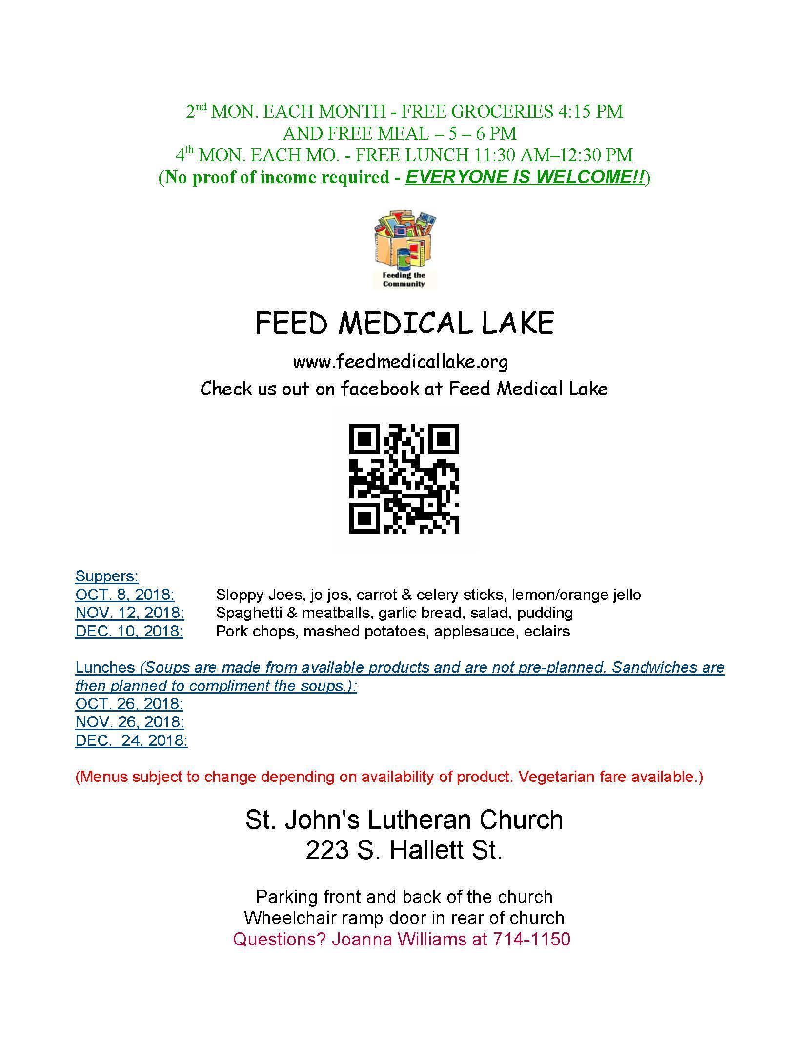 Feed Medical Lake Fall Dates