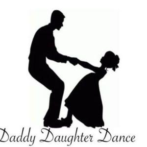 silhouette of daddy and daughter dancing