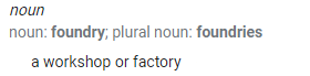 Foundry Definition