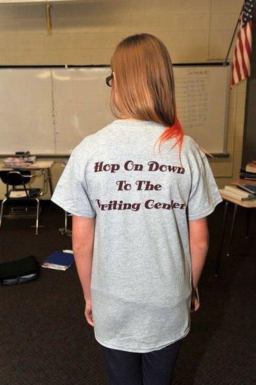 Writing Center Tutor tee shirt