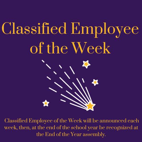 Classified Employee of the week