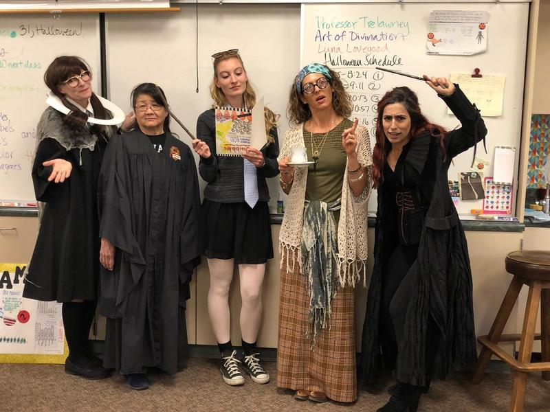 Rio teachers join in Halloween fun!