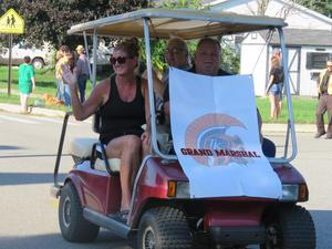 Members of the TK Alumni Association served as grand marshals in the homecoming parade.