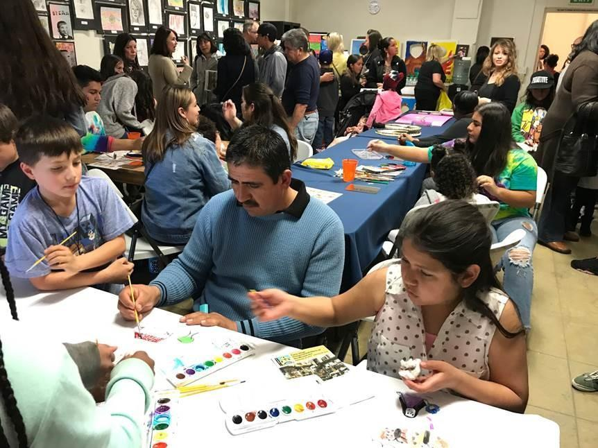 Students and Parents Painting