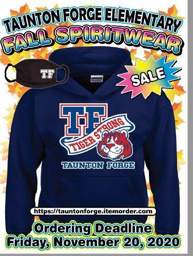 Taunton Forge Spirit Wear Sale ends November 20th