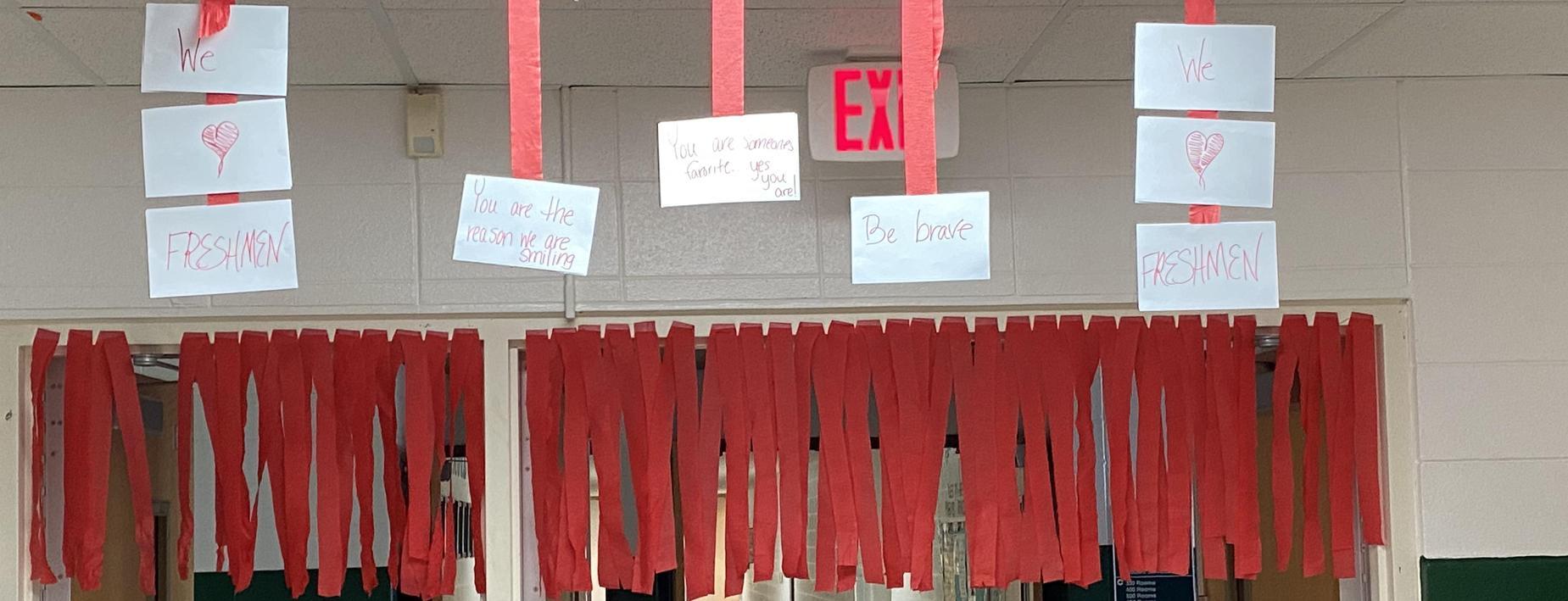 Messages to the freshmen
