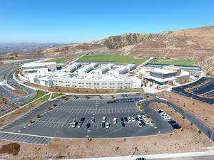 Aerial photograph of Castaic High School