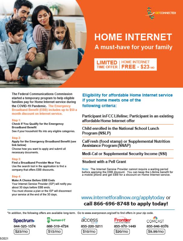 Low cost broadband service