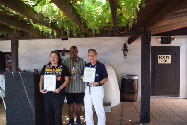 Las Angelitas' docents of El Pueblo de Los Angeles (Olvera Street).  Recognition for time served.  I just completed my 10th year of giving free tours