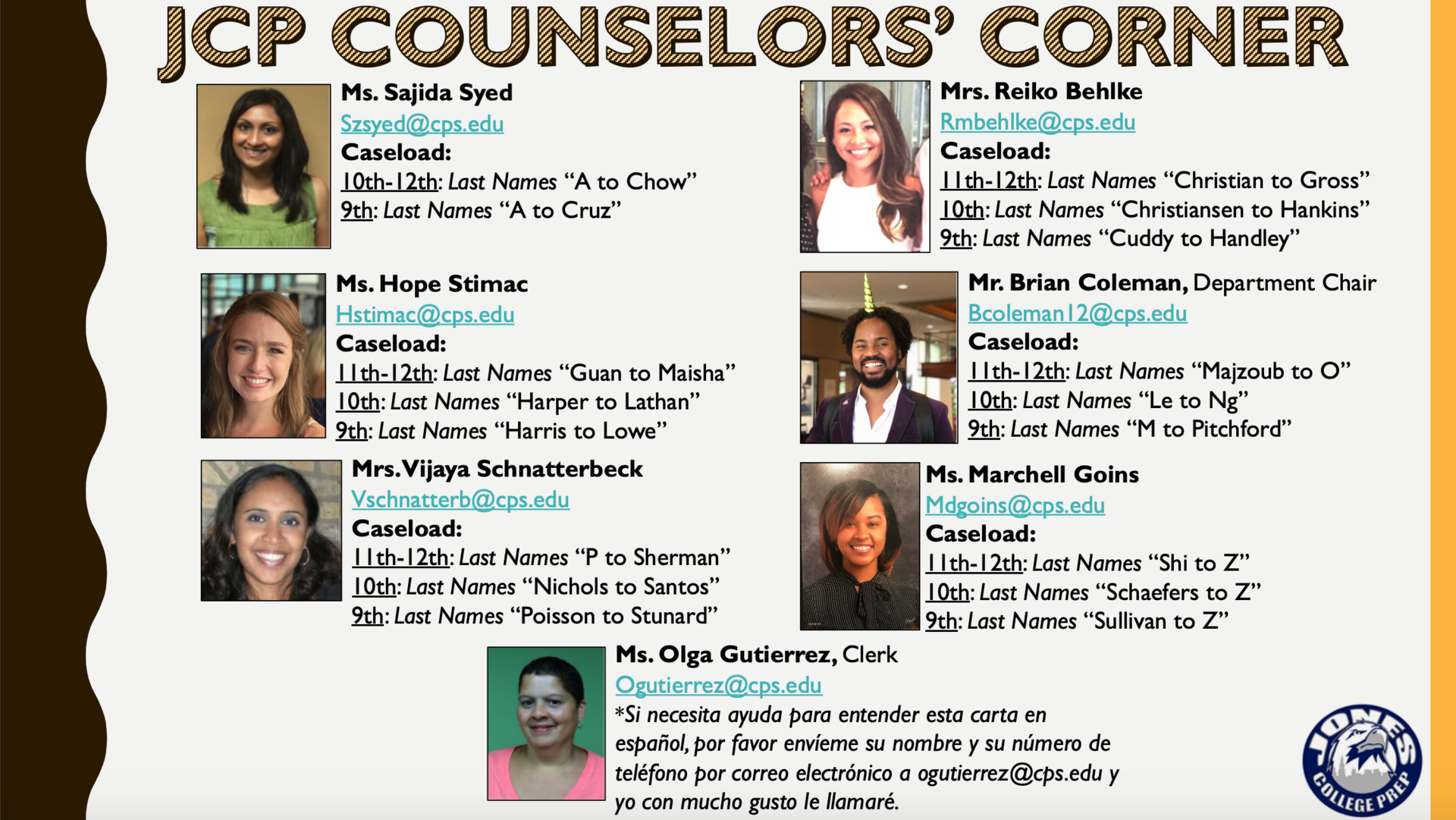 JCP Counseling Directory
