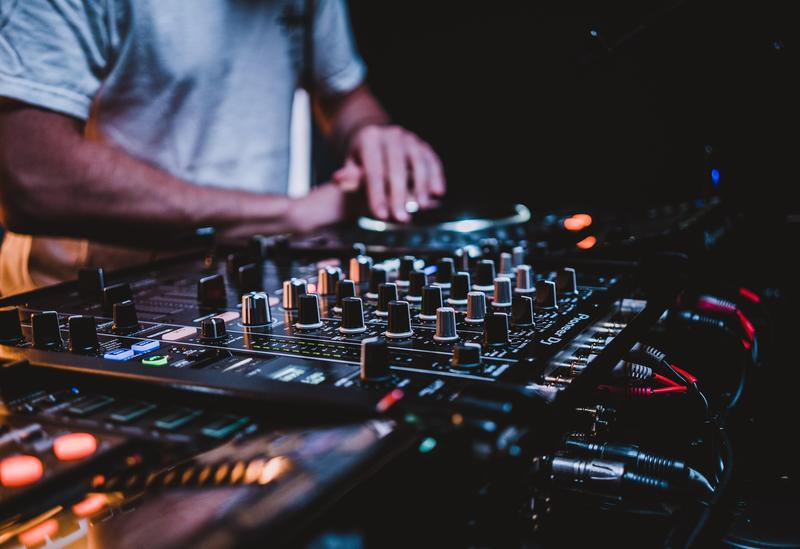 A stock image of music production illustrates the wide range of opportunities students have for clubs
