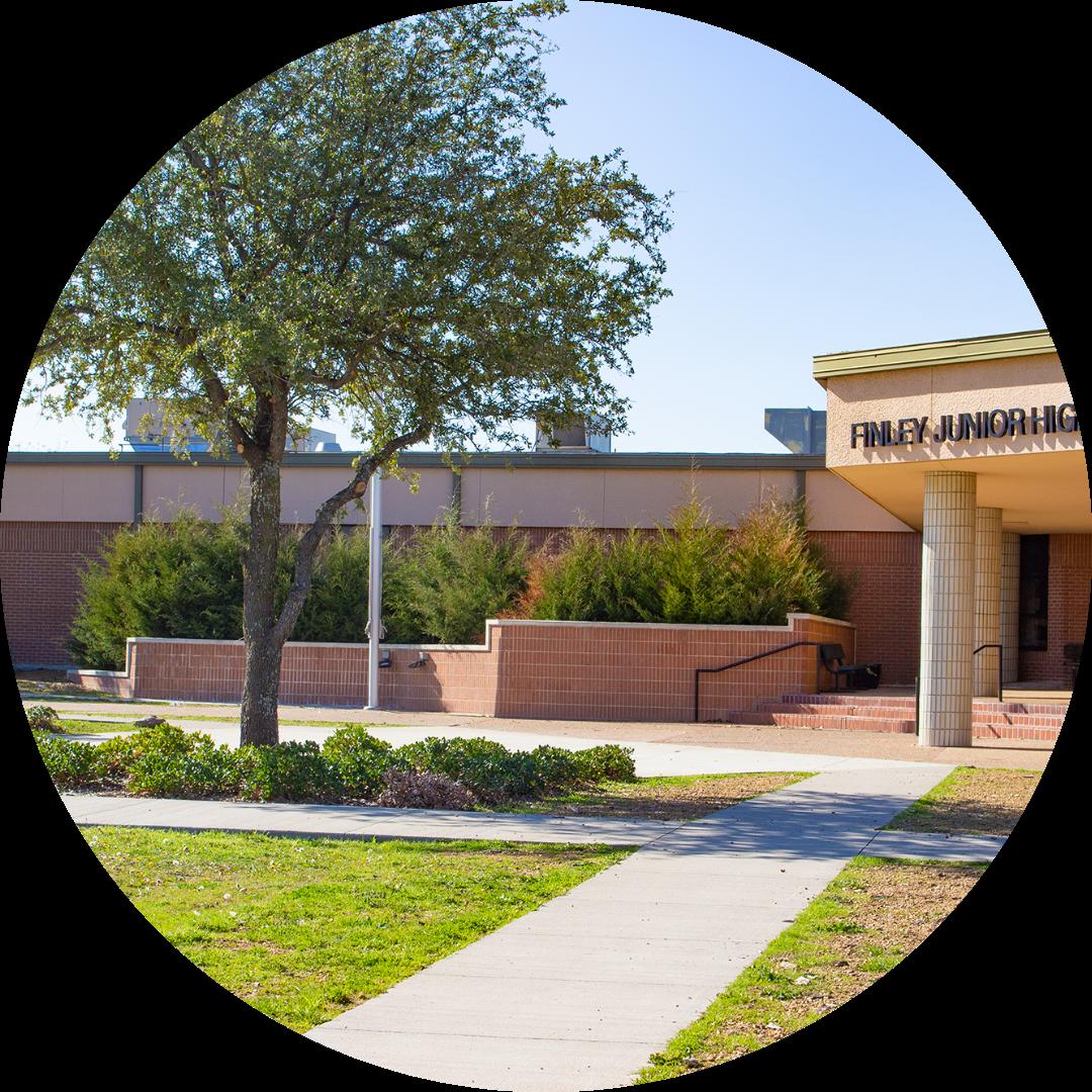 entrance to Finley Junior High
