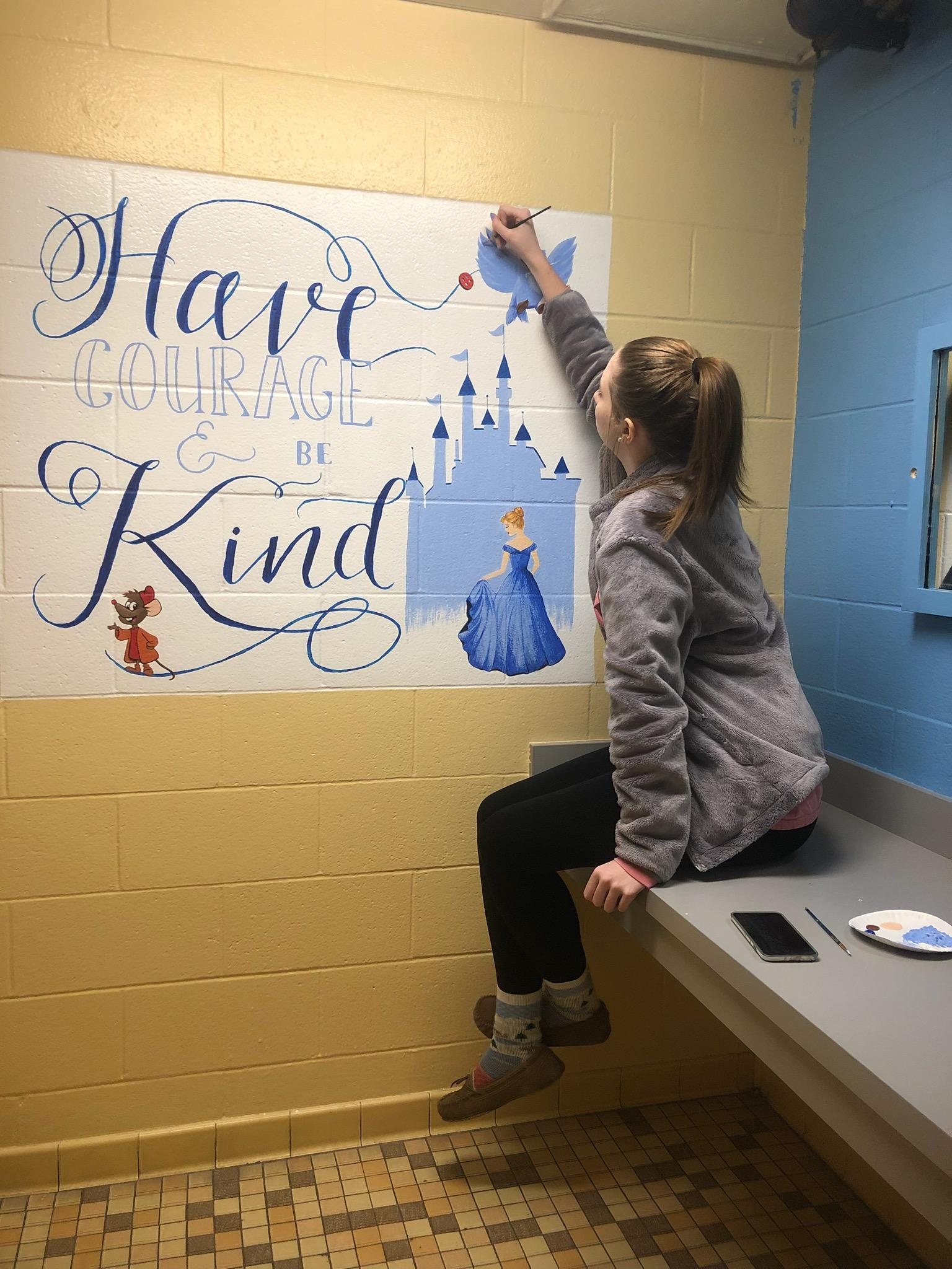 Cinderella mural (Faith Rinehart)