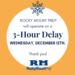 3-hour delay