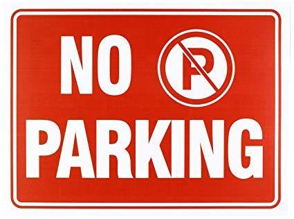 no parking in fire lanes