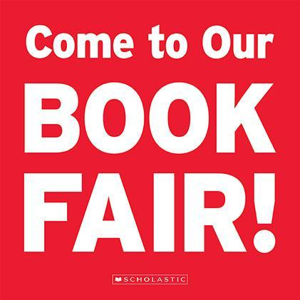 Come to our Book Fair sign