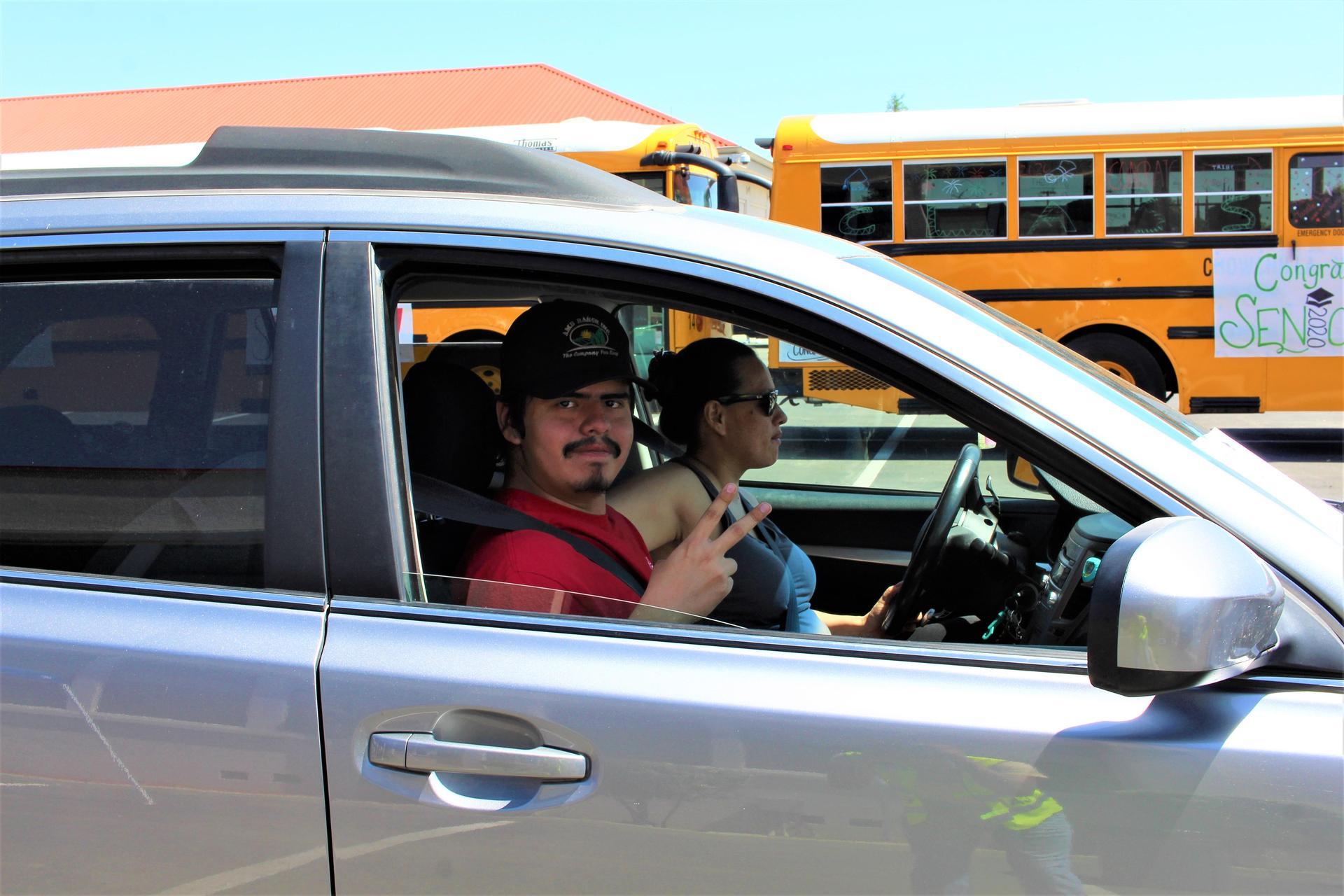 Roy Martinez riding through