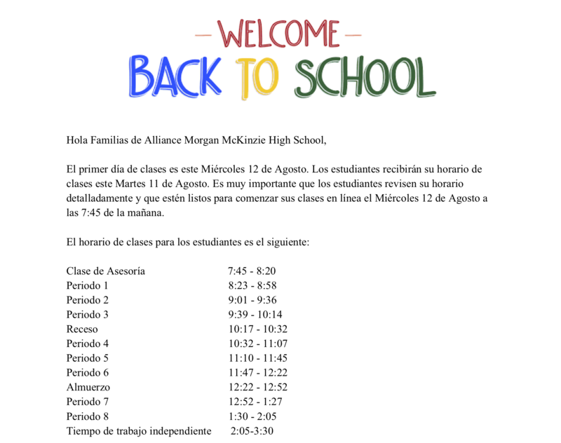 Welcome Back to School - Spanish Thumbnail Image