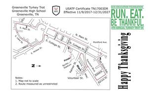 A picture of the race course map