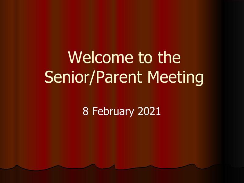 Senior/Parent Meeting Thumbnail Image