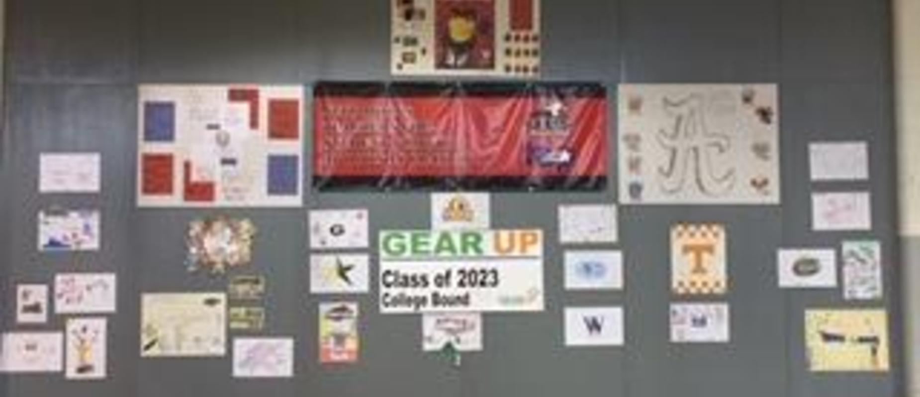 GEAR UP wall