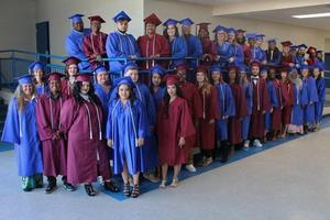 Some of the adult education graduates