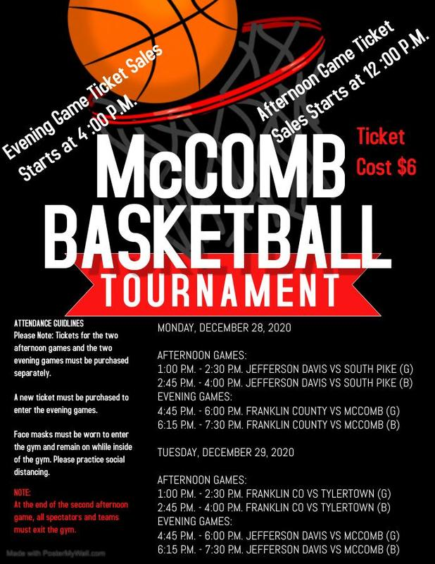 McComb High School Holiday Basketball Tournament News 2020