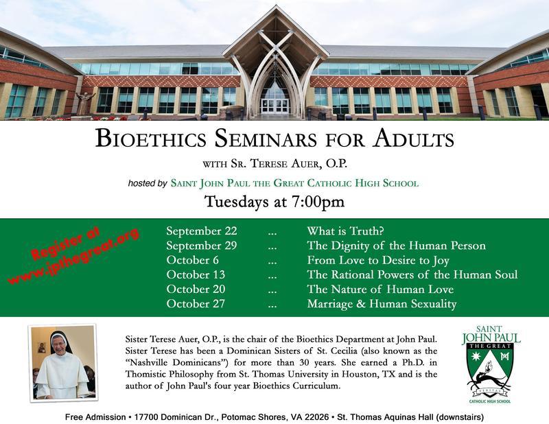 Fall Bioethics Seminar