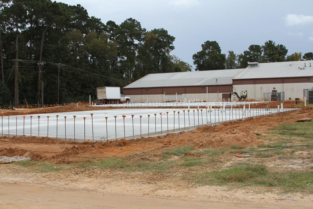 Concrete has been poured