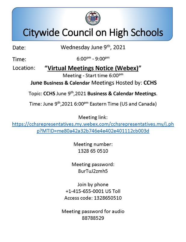 CCHS June Business  Calendar Meeting Notice 06_09_21