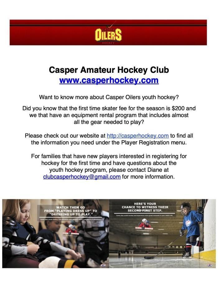 Casper Amateur Hockey Club Flyer