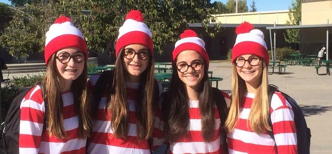 girls dressed as Waldo